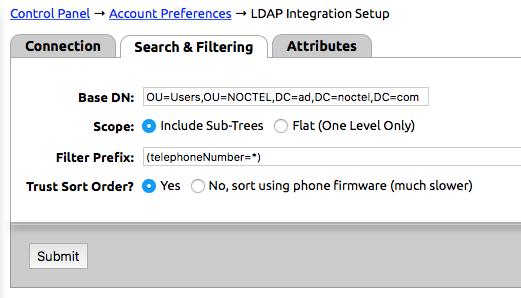LDAP Integration - NocTel Documentation - NocTel Help