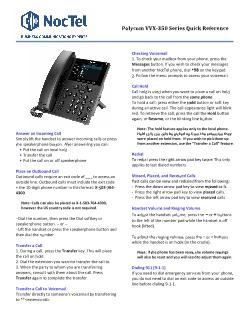 Quick Start Guides - NocTel Documentation - NocTel Help